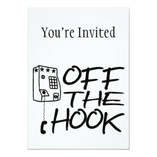 Off The Hook Pay Phone Personalized Invites