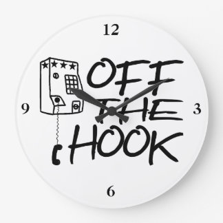 Off The Hook Pay Phone Large Clock