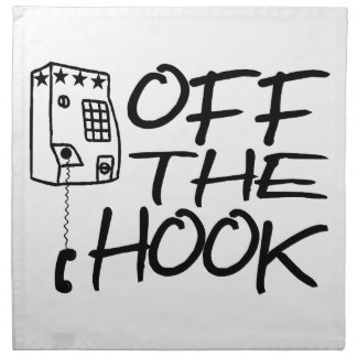 Off The Hook Pay Phone Napkin