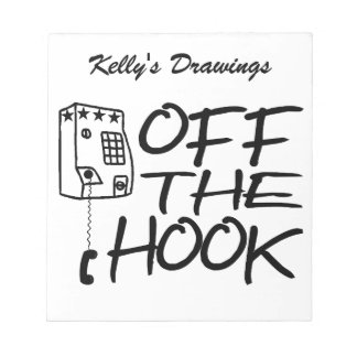Off The Hook Pay Phone Note Pad
