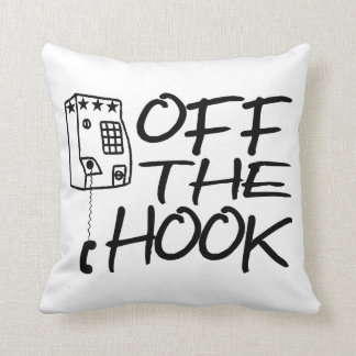 Off The Hook Pay Phone Throw Pillow