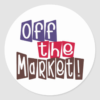 Off the Market Classic Round Sticker