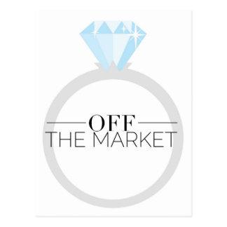 Off the Market Diamond Ring Postcard