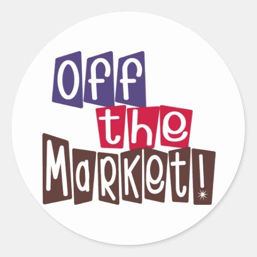 Off the Market Round Stickers