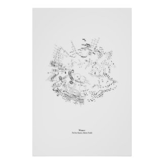 Off the Staff: The Four Seasons - Winter (black) Poster