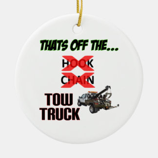 Off the Tow Truck Ceramic Ornament