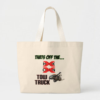 Off the Tow Truck Large Tote Bag