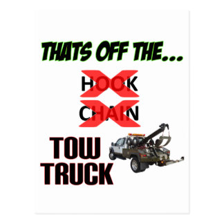 Off the Tow Truck Postcard