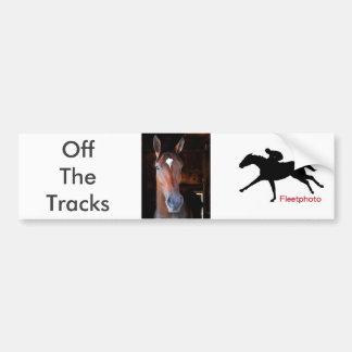 Off the Tracks Bumper Sticker