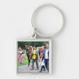 Off the Tracks by Curlin & Harve De Grace Keychain