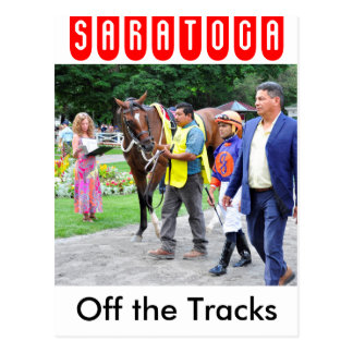 Off the Tracks by Curlin & Harve De Grace Postcard