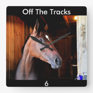 Off the Tracks Square Wall Clock