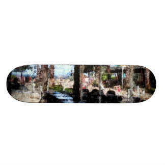 Off-time in a restaurant skateboards