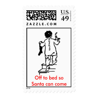 Off to bed stamps