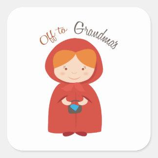 Off to Grandmas Square Sticker