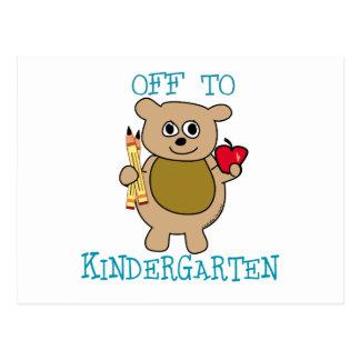 Off to Kindergarten Post Card