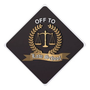 Off to Law School Grad Cap Topper