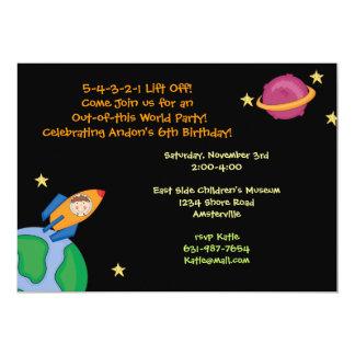 "Off To Mars Invitation 5"" X 7"" Invitation Card"