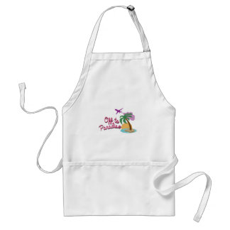 Off To Paradise Adult Apron
