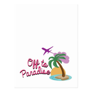 Off To Paradise Postcards