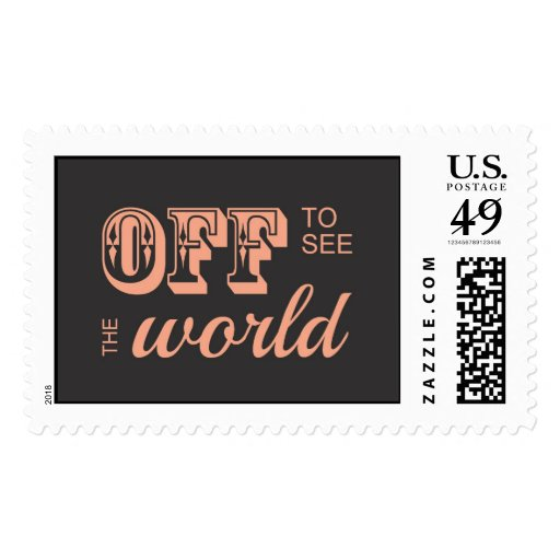 Off to See the World - For the Adventurer Postage Stamp