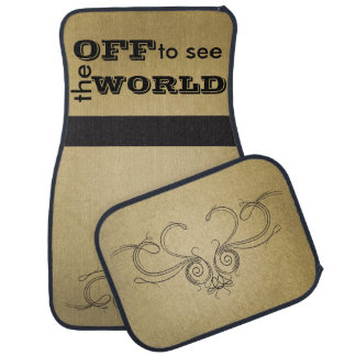 Off to see the World Floor Mat