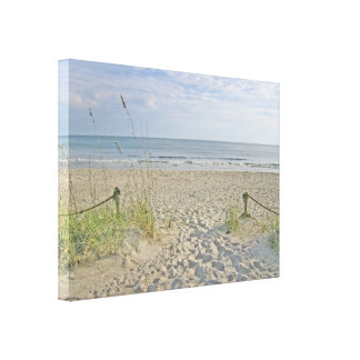 Off To The Beach Gallery Wrapped Canvas