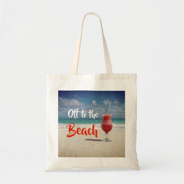 Beach Themed Off To The Beautiful Beach Tote Bag