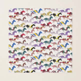 Off to the Horse Races Jockey Silk Pattern Scarf