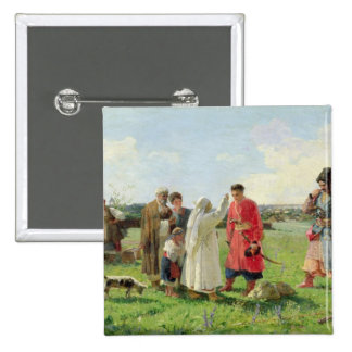 Off to the Zaporozhian Host, 1889 2 Inch Square Button