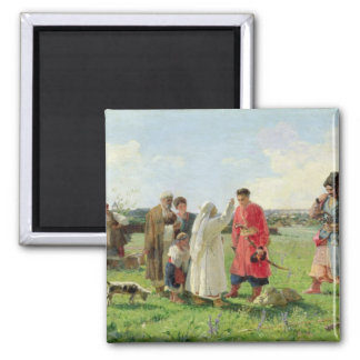 Off to the Zaporozhian Host, 1889 2 Inch Square Magnet