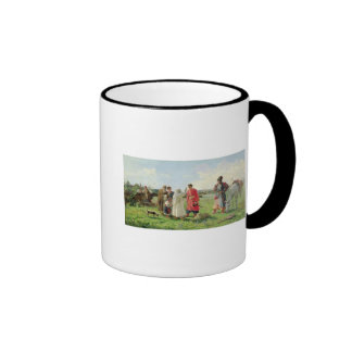 Off to the Zaporozhian Host, 1889 Ringer Coffee Mug