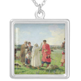 Off to the Zaporozhian Host, 1889 Square Pendant Necklace
