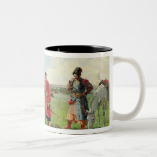 Off to the Zaporozhian Host, 1889 Two-Tone Coffee Mug