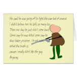 """""""Off to War""""--Story Art Gifts Card"""