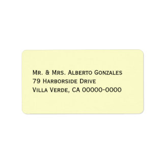 Off-White Address Template Mailing Labels
