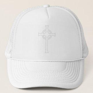 Off-White Celtic Christian Cross Trucker Hat