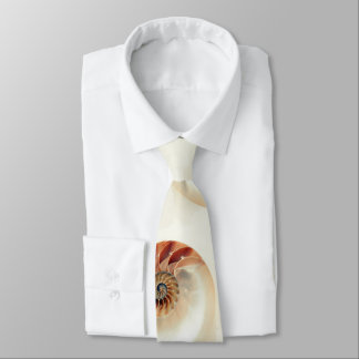 Off White Chambered Nautilus Print Neck Tie