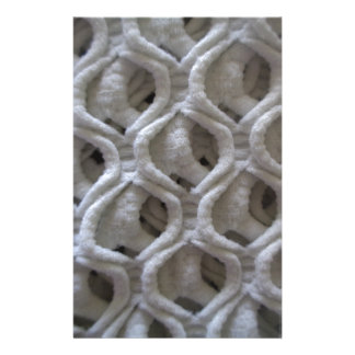 Off-White Colored Crochet Fabric Look Stationery