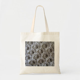 Off-White Colored Crochet Fabric Look Tote Bag