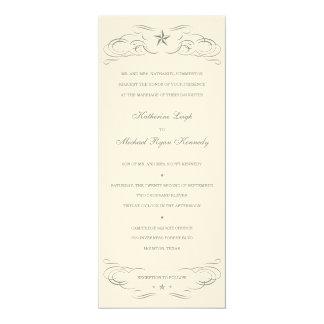 Off White Felt Paper Lone Star Wedding Invitations