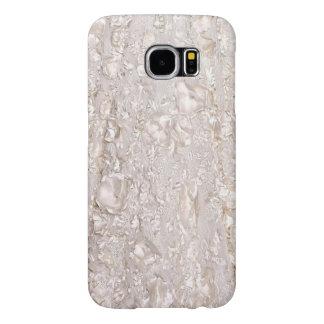 Off White Fine Lace Texture Galaxy Case