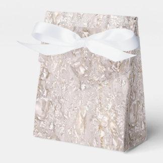 Off White Fine Lace Texture Wedding Favor Box