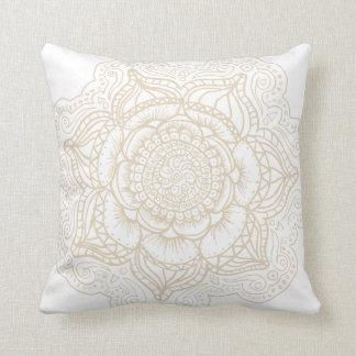 Off-White Mandala Throw Pillow