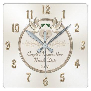 Wedding Themed Off White Personalized Wedding Gifts Wedding Clock