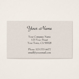 Off-white texture business card
