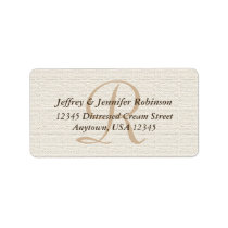 Off White Textured Return Address Label Monogram