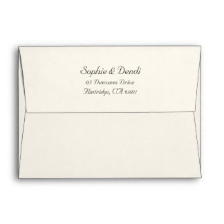 Off White Wedding Envelopes