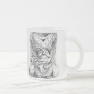 Off with her head frosted glass coffee mug
