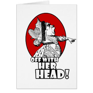 Off With Her Head Logo Greeting Card
